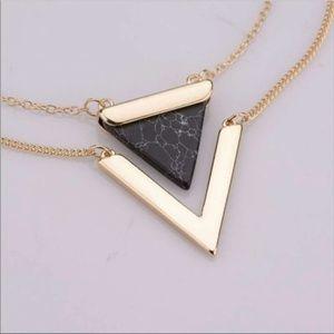 🏷Howlite Statement 18k necklace  Farah Jewelry